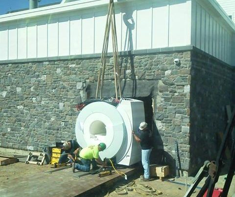 MRI installation we completed last week.