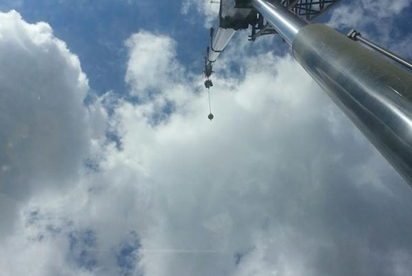 Sky's the limit for what Mullins Rigging can do for you! Our operators view on a beutiful may day!