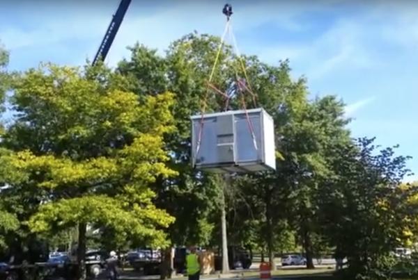 Mullins Rigging Crane Link Belt 8690 Video Vending Machine Install Albany NY
