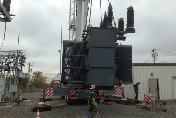 Taking out the old transformer.