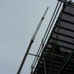 View from below the scaffold.
