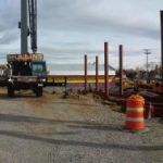 Panorama of jobsite