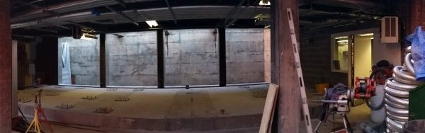 Panorama of empty facility before installation of CAT generators.