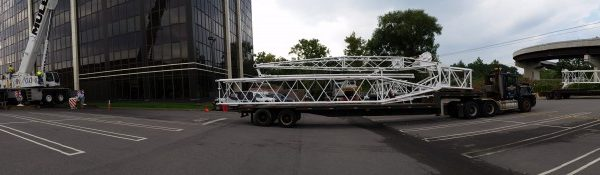 Getting ready to assemble luffer on our 220 ton crane.