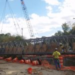 The bridge was 140 ft. long and weighed 56,000 lbs.