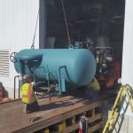 The tank weighed about 4,000 lbs.