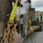 Using our rigging chains to help balance out the load.