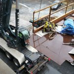 Crane: Link-Belt 8690 (Rigging large laundry equipment- Menands, NY)