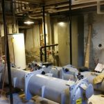 Rigging: Chiller into basement at the Schenectady County Courthouse (Schenectady, NY)