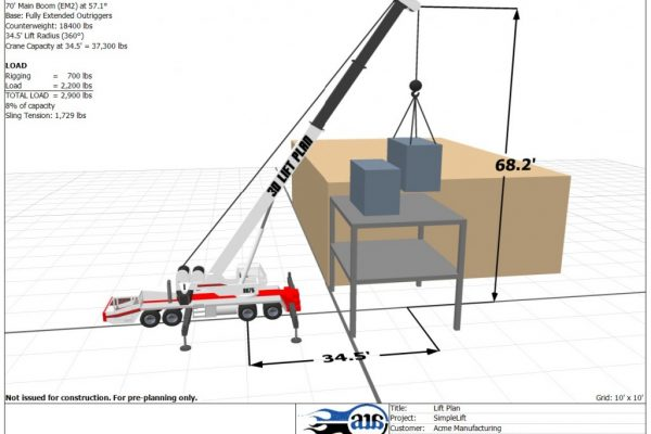 Mullins Rigging 3d Lift Planning Sample