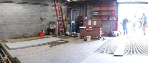 The concrete pad where we will be installing chiller.