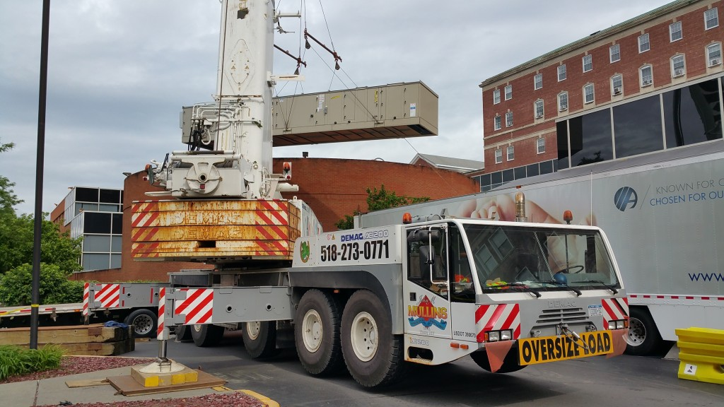 Crane Demag Ac200 Setting A C Unit At Albany Medical