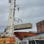 Crane: Demag AC200 Setting A/C Unit at Albany Medical Center (Albany, NY)