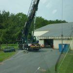 Crane: Link-Belt 8690 Chiller and Cooling Tower installation at local Ice Rink (Latham, NY)