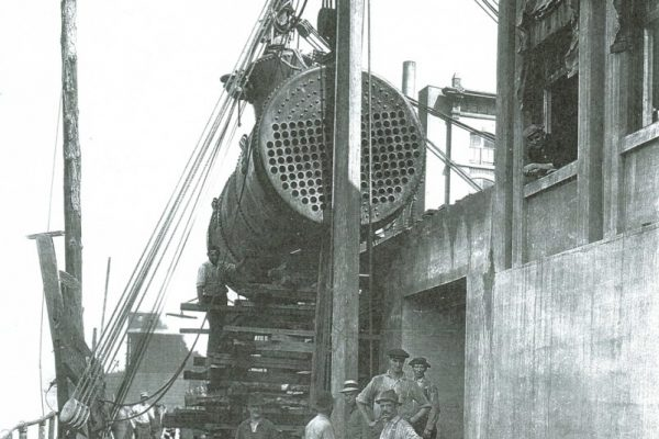 """Mullins Rigging - Rigging of boiler """"The old fashioned way"""""""