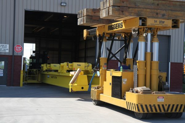 Mullins Rigging dismantling and replacement of new 20 ton overhead crane