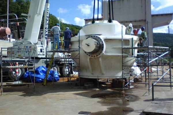 Mullins Rigging Turbine Gear Box – Gilboa Dam