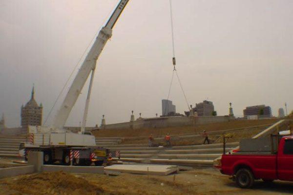 Mullins Rigging Precast Stadium seating – Albany-Corning Preserve