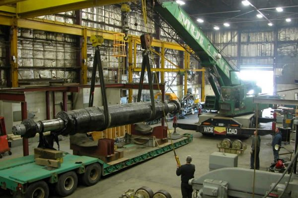 Mullins Rigging loading and transport of 60 ton Generator Armature