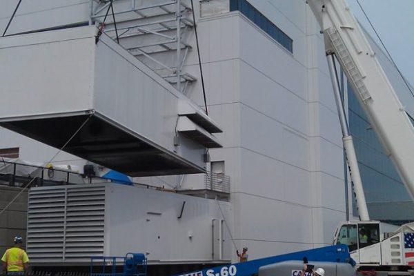 Mullins Rigging Standby Generator Installation – NANOFAB – Albany, N.Y.