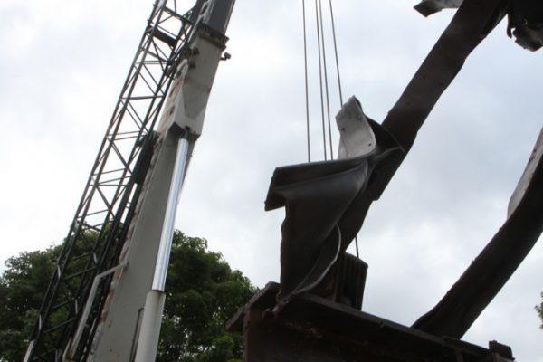 Mullins Rigging installation of 9/11 Memorial – Saratoga Springs, N.Y.