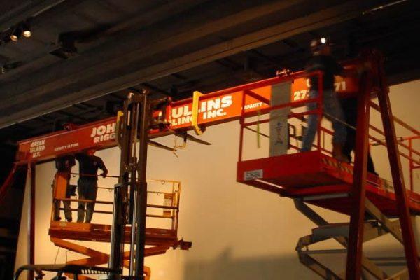 Mullins Rigging installation of 9/11 Memorial at State Museum