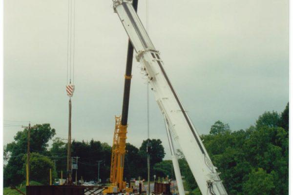 Mullins Rigging setting of bridge beams – Rt. 40 – Schaghticoke, N.Y.