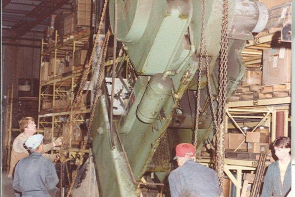 Mullins Rigging Punch Press at Troy bilt factory