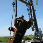 Mullins Rigging Worker and Crane